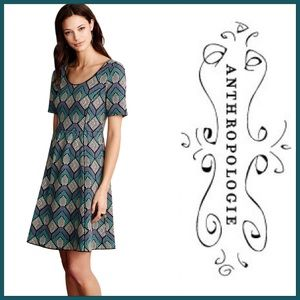 Anthropologie Hollyhock Fit and Flare Dress